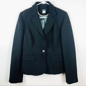 J. Crew | Black Wool One Button Career Blazer 8